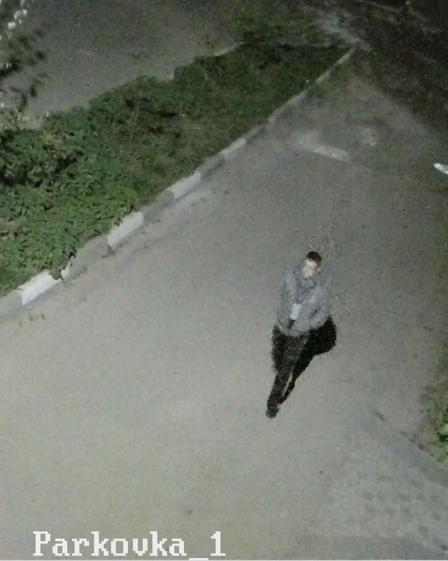 Івано-Франківськ: у мережі розшукують чоловіка, який викрав автомобільні номера в районі вулиць Довга-Тичини (фотофакт)
