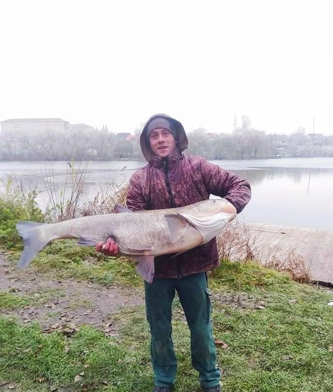 У Городенці рибалка впіймав 27-кілограмового товстолоба (відео)